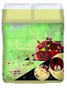 Abstract Painting - Feijoa Duvet Cover