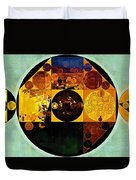 Abstract Painting - Gamboge Duvet Cover