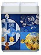 Abstract Painting - Havelock Blue Duvet Cover