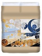 Abstract Painting - Light Gray Duvet Cover