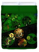Abstract Painting - Lincoln Green Duvet Cover