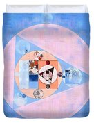 Abstract Painting - Loulou Duvet Cover