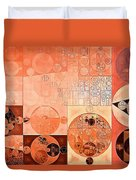 Abstract Painting - Mandys Pink Duvet Cover