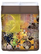Abstract Painting - Pale Brown Duvet Cover