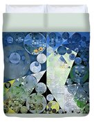 Abstract Painting - Paris White Duvet Cover