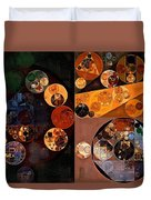 Abstract Painting - Persian Orange Duvet Cover