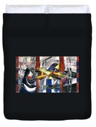 Abstract Painting Duvet Cover by Robert Thalmeier