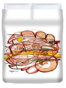 Abstract Pen Drawing Eight Duvet Cover