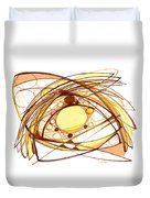 Abstract Pen Drawing Eleven Duvet Cover