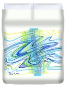 Abstract Pen Drawing Forty Duvet Cover