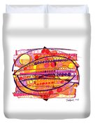 Abstract Pen Drawing Fourteen Duvet Cover