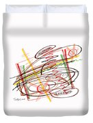 Abstract Pen Drawing Seven Duvet Cover
