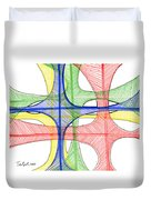 Abstract Pen Drawing Seventeen Duvet Cover
