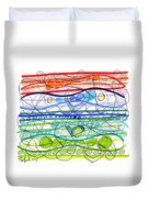Abstract Pen Drawing Sixteen Duvet Cover