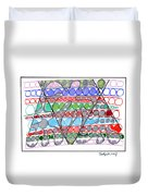 Abstract Pen Drawing Thirteen Duvet Cover