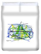Abstract Pen Drawing Thirty Duvet Cover
