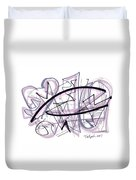 Abstract Pen Drawing Thirty-six Duvet Cover