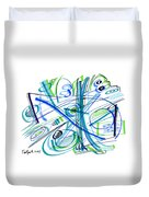 Abstract Pen Drawing Thirty-three Duvet Cover