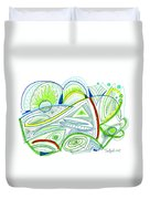 Abstract Pen Drawing Thirty-two Duvet Cover