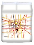 Abstract Pen Drawing Three Duvet Cover