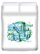 Abstract Pen Drawing Twenty-eight Duvet Cover