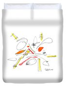Abstract Pen Drawing Twenty-four Duvet Cover
