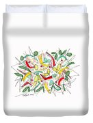 Abstract Pen Drawing Twenty-two Duvet Cover