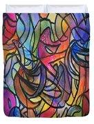 Abstract Pen Duvet Cover