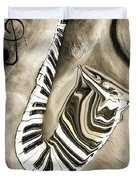 Piano Keys In A Saxophone 3 - Music In Motion Duvet Cover