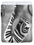 Piano Keys In A Saxophone 4 - Music In Motion Duvet Cover