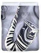Piano Keys In A Saxophone 5 - Music In Motion Duvet Cover