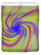 Abstract Pinwheel Duvet Cover