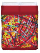 Abstract Pizza 2 Duvet Cover