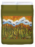 Abstract Poppies Duvet Cover