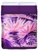 Abstract Purple Flowers Duvet Cover
