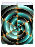 Abstract Radial Object Duvet Cover