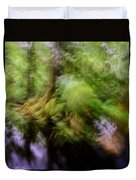 Abstract Rain Forest Duvet Cover
