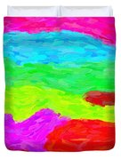 Abstract Rainbow Art By Adam Asar 3 Duvet Cover