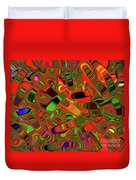 Abstract Rainbow Slider Explosion Duvet Cover