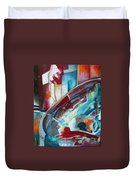 Abstract Red And Blue A Duvet Cover