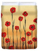 Abstract Red Poppy Field Duvet Cover