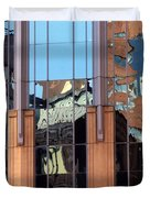 Abstract Reflections In Glass Duvet Cover
