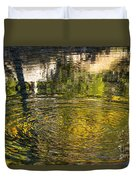 Abstract River Reflection Duvet Cover