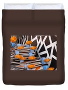 Abstract Road Work Duvet Cover