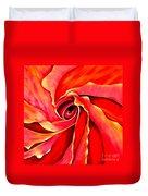 Abstract Rosebud Fire Orange Duvet Cover