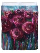 Abstract Roses Duvet Cover