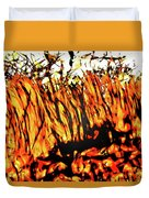 Abstract Saw Grass Iv Duvet Cover