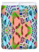 Abstract Seamless Pattern - Blue Pink Green Purple Duvet Cover