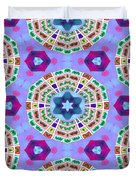Abstract Seamless Pattern  - Blue Purple Pink Violet Lilac Orange Green Duvet Cover