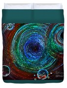 Abstract Space Art. Sparkling Antimatter Duvet Cover